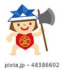 金太郎 子どもの日 端午の節句のイラスト 48386602