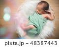 ベビー 男の子 誕生の写真 48387443