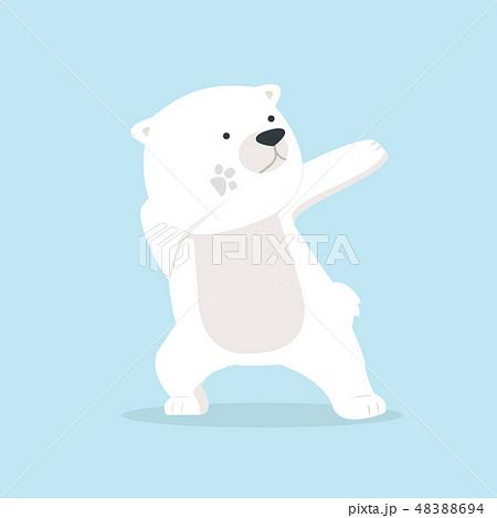 Cute polar Bear dabbing movement 48388694