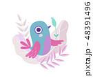 鳥 ベクター マンガのイラスト 48391496