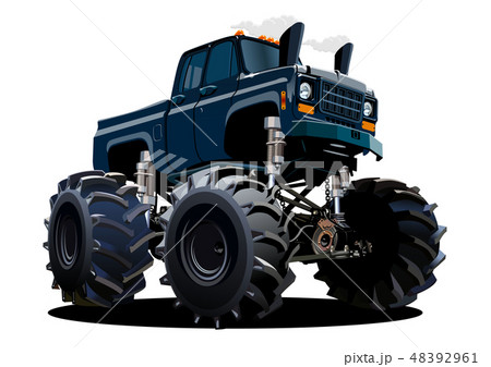 Cartoon Monster Truck isolated on white background 48392961