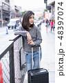 空港 アジア人 アジアンの写真 48397074