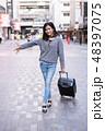 空港 アジア人 アジアンの写真 48397075