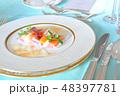 食事シーン フレンチ 48397781