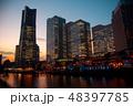 横浜 みなとみらい 夕焼け 48397785
