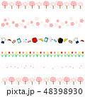 春 桜 ボーダーのイラスト 48398930