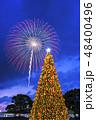 クリスマス花火 クリスマスツリー クリスマスの写真 48400496