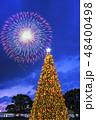 クリスマス花火 クリスマスツリー クリスマスの写真 48400498