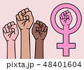 female hands, feminist sign, vector 48401604