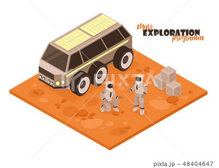 Mars Rover Isometric Background 48404647