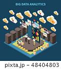 分析的な データ 技術のイラスト 48404803