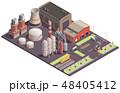工場 産業 アイソメトリックのイラスト 48405412
