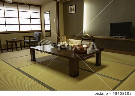 山口 萩 日本旅館 和室 畳  48408105