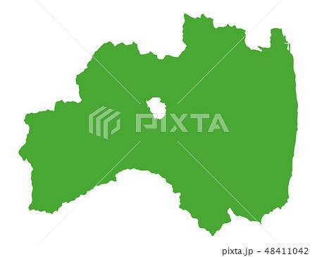 福島県 地図のイラスト素材 48411042 Pixta