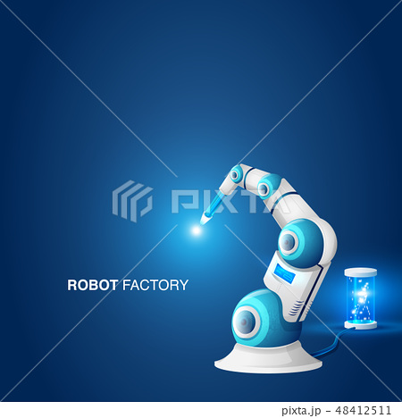Mechanical Hand Robotic Arm Modern Factory Element 48412511
