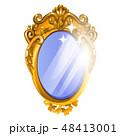 フレーム 鏡 装飾のイラスト 48413001