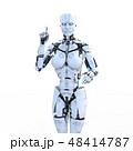 人型ロボット女性 perming3DCGイラスト素材 48414787