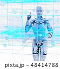 人型ロボット女性 perming3DCGイラスト素材 48414788