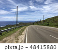 島 道路 山の写真 48415880