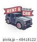 レトロ 車 自動車のイラスト 48418122