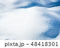 雪 積雪 冬の写真 48418301