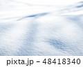 雪 積雪 冬の写真 48418340