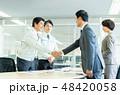 握手 ビジネスマン ビジネスの写真 48420058
