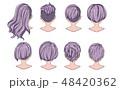 漫画 髪 毛のイラスト 48420362