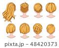 漫画 髪 毛のイラスト 48420373