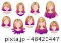 漫画 髪 毛のイラスト 48420447