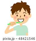歯磨き 男の子 ライフスタイルのイラスト 48421546