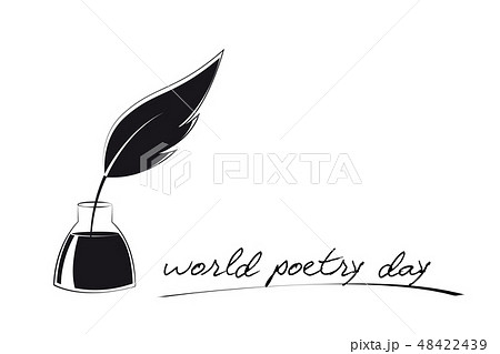 world poetry day sketch of pen and ink 48422439