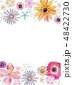 春の花 夏の花 背景 フレーム 水彩 48422730