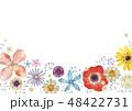 春の花 夏の花 背景 フレーム 水彩 48422731