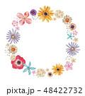 春の花 夏の花 背景 フレーム 水彩 48422732