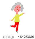 おばあちゃん 元気 女性のイラスト 48425880
