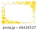 向日葵のライン フレーム 背景素材 ポストカード 48426537