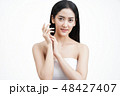 Beautiful asian woman with clean skin, natural make-up,Facial tr 48427407