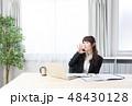女性 ビジネスウーマン ノートパソコンの写真 48430128