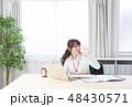 ビジネスウーマン 会社員 ノートパソコンの写真 48430571