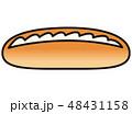 生クリームサンドパン クリームサンドパン パンのイラスト 48431158