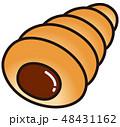 チョココロネ パン 菓子パンのイラスト 48431162