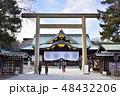 靖国神社 中門鳥居(東京都千代田区) 48432206