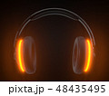 ヘッドフォン ヘッドホン ヘッドフォーンのイラスト 48435495