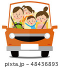 家族 車 運転のイラスト 48436893