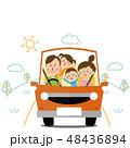 家族 車 運転のイラスト 48436894