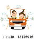 カップル 車 運転のイラスト 48436946
