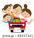 家族 車 運転のイラスト 48437341