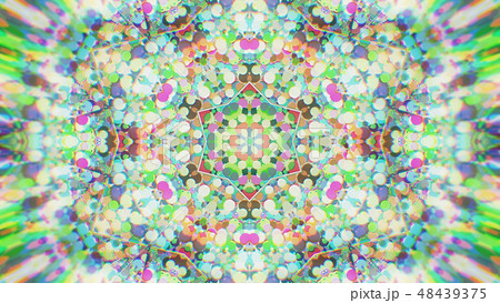 Abstract Colorful Painted Kaleidoscopic Graphic 48439375