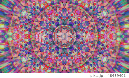 Abstract Colorful Painted Kaleidoscopic Graphic 48439401